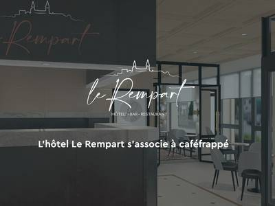 L'Hôtel indépendant « Le Rempart » fait confiance à Caféfrappé